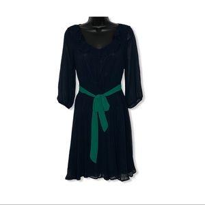 FRANCESCA'S ANNABELLA navy chiffon dress | M